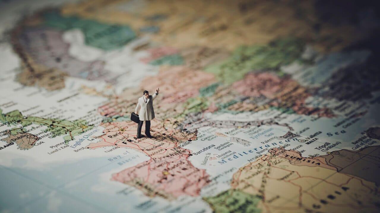 Mapa de turista en europa