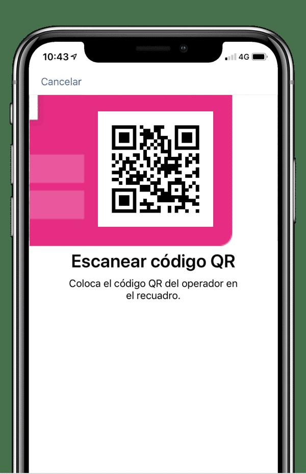Escanear QR de eSIM de Yoigo