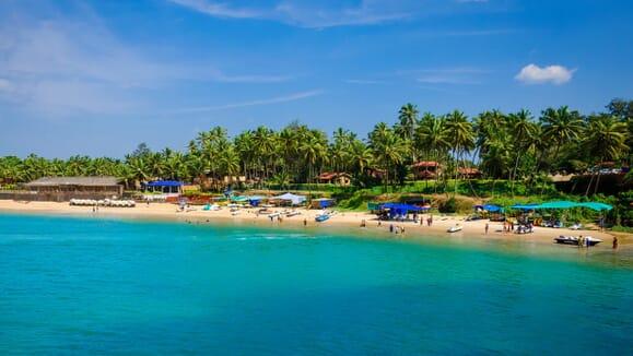 Playa en Goa, India