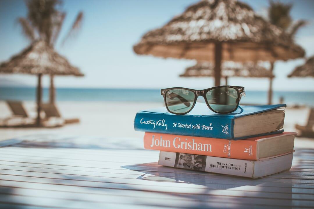 Lectura libros playa