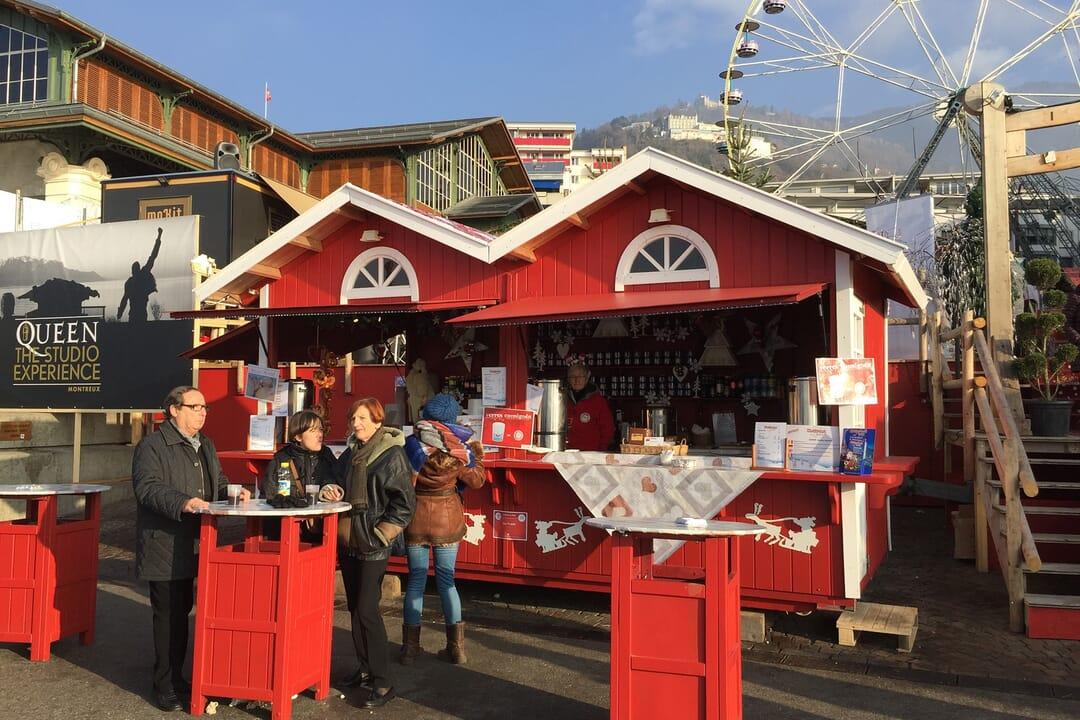 Mercado en Navidad, que ver en Montreux, Suiza