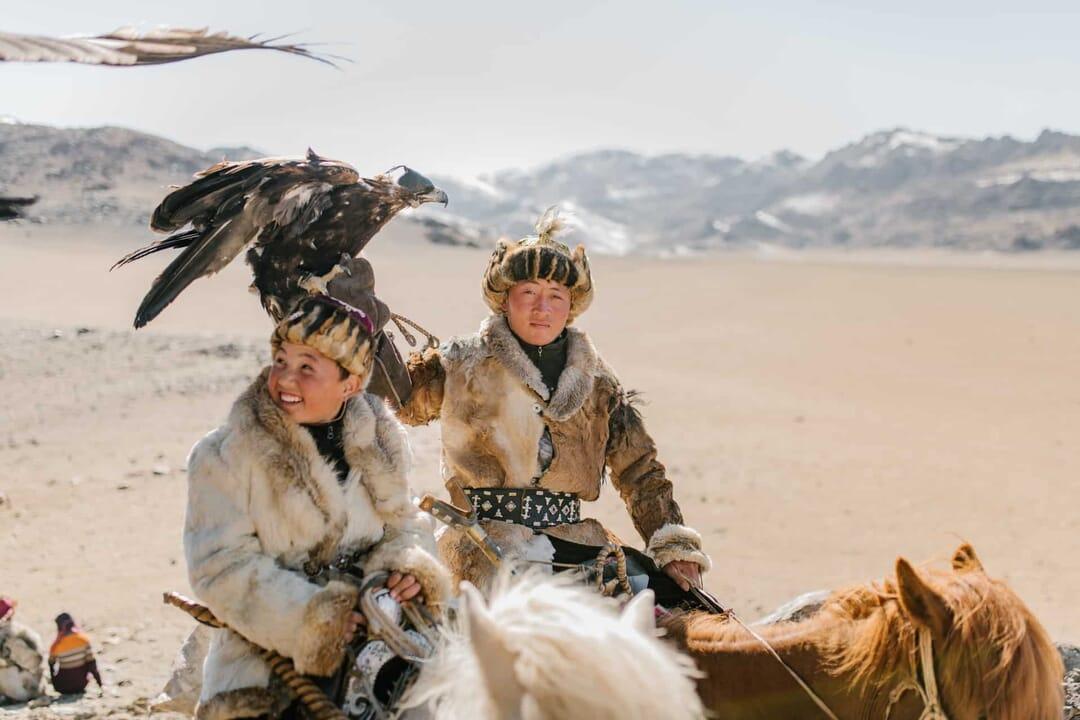 cazadores de águila, Mongolia